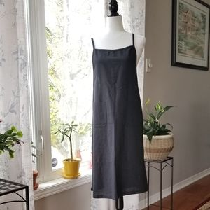 Oak + Fort Pinafore Style Midi Dress